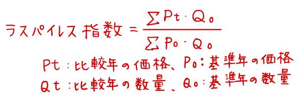 ラスパイレス指数の公式