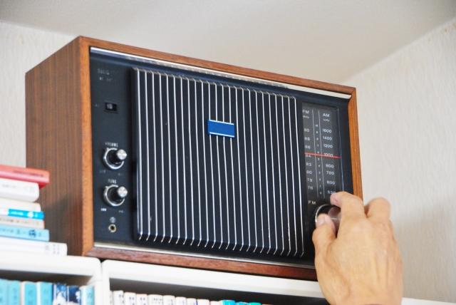 真空管のラジオ
